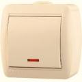 Выключатель одноклавишный с подсветкой о/п