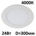 Светильник встраиваемый точечный панель LED 24 Вт 300 мм 4000 K