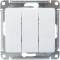Выключатель трехклавишный Glossa белый