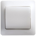 Выключатель одноклавишный Glossa белый