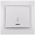Выключатель одноклавишный проходной с подсветкой с/п