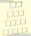 Рамки 2, 3, 4, и 5 постов Glossa бежевые (крем)