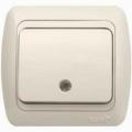 Выключатель одноклавишный с подсветкой с/п